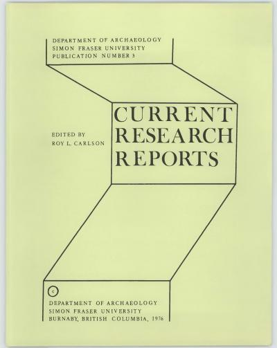 Cover for Current Research Reports: 14 Detailed Reports on Current Archaeological Research