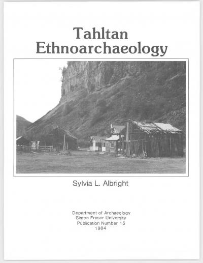 Cover for Tahltan Ethnoarchaeology